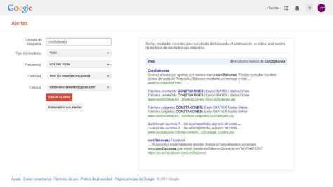 """Google alerts de """"con2takones"""""""